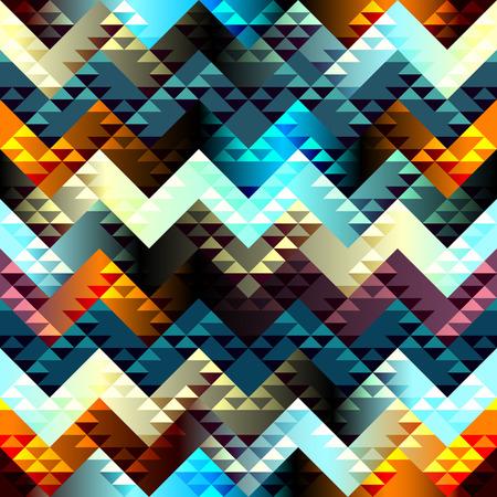 chevron background: Seamless geometric abstract pattern in aztecs style on chevron background.