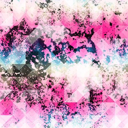 Seamless background pattern. Pink grunge geometric pattern.  イラスト・ベクター素材