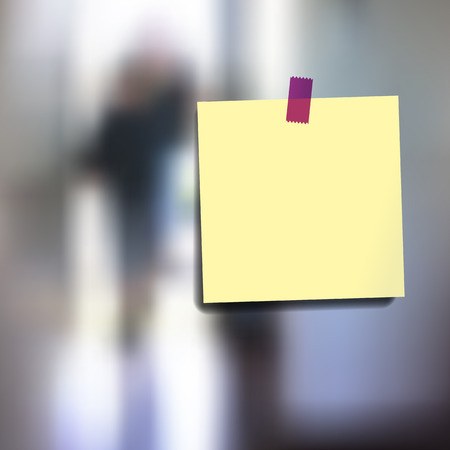 square tape: Sticky notes wallpaper on blurred vector background