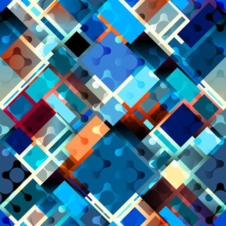 continuity: Seamless background pattern. Blue geometric diagonal pattern Illustration