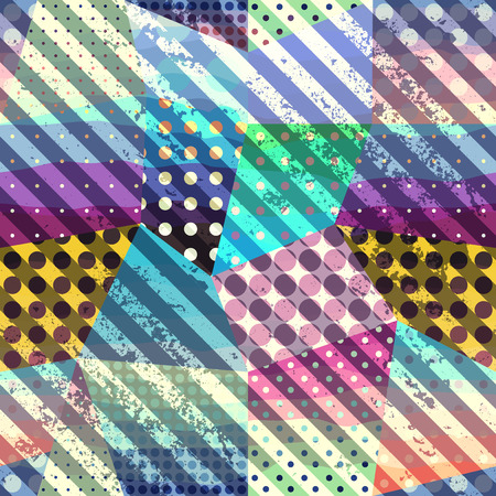 Seamless background pattern. Abstract geometric pattern with grunge diagonal strips. Illustration