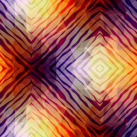Seamless background pattern. Abstract exotic pattern on geometric background.
