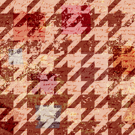 houndstooth: Seamless background pattern. Houndstooth pattern on abstract retro background.