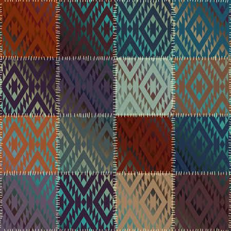 patchwork pattern: Seamless background pattern. Patchwork pattern with satin effect.