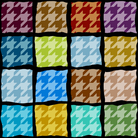 houndstooth: Seamless background pattern. Houndstooth pattern with the geometric squares.