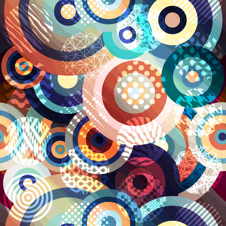 backdrop: Seamless background pattern. Abstract circles geometric pattern. Illustration