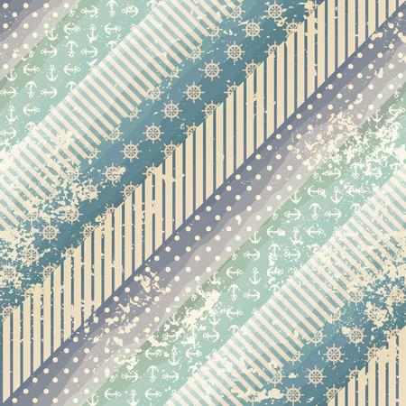 원활한 배경 무늬입니다. 패치 워크 스타일의 대각선 스트라이프 패턴입니다. 일러스트