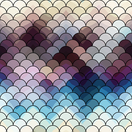 squama: Seamless background pattern. Abstract squama pattern with chevron shadow. Illustration