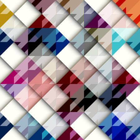 houndstooth: Seamless background pattern. Houndstooth pattern with white geometric squares. Illustration