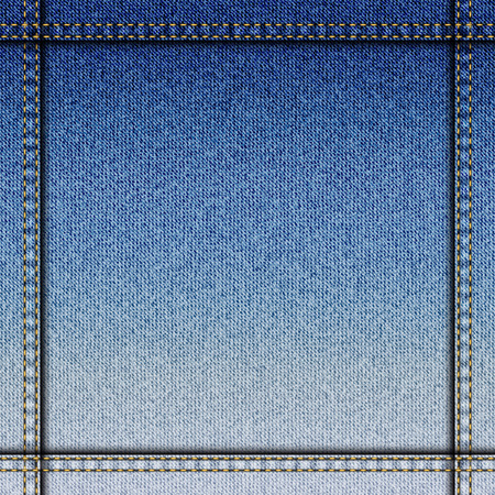 bordered: Seamless background pattern. Bordered background of demin fabric texture