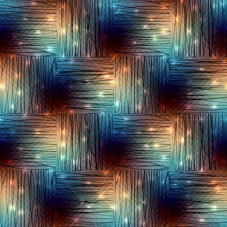 luminous: Seamless background pattern. Diagonal geometric pattern with luminous elements.
