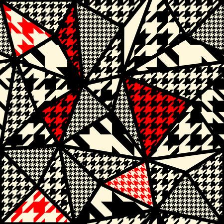 Naadloos patroon als achtergrond. Houndstoothpatroon op abstracte wazige achtergrond. Stock Illustratie