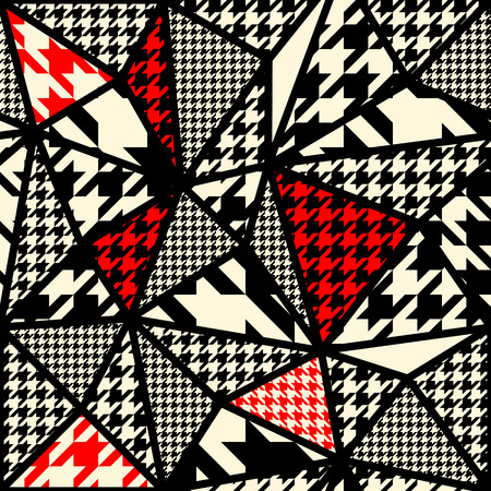Seamless background pattern. Houndstooth pattern on abstract blur background.
