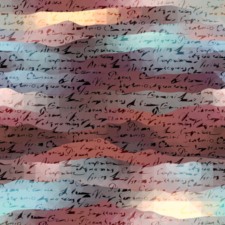 manuscript: Seamless background pattern. Stylization background of the manuscript