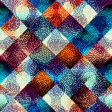 continuity: Seamless background pattern. Abstract geometric pattern with diagonal strikes. Illustration