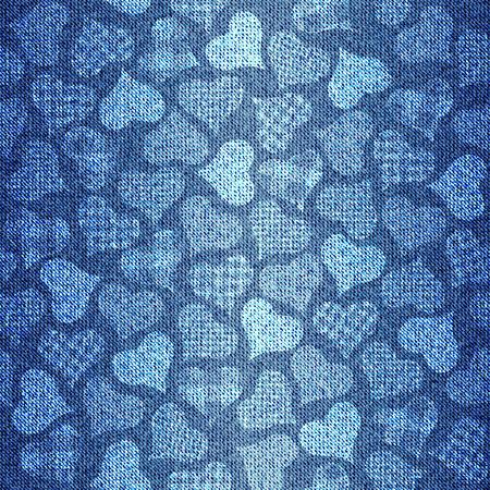 Seamless background pattern. Texture of denim fabric. 일러스트