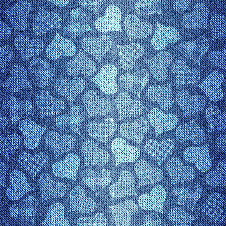 Seamless background pattern. Texture of denim fabric. Stock Illustratie