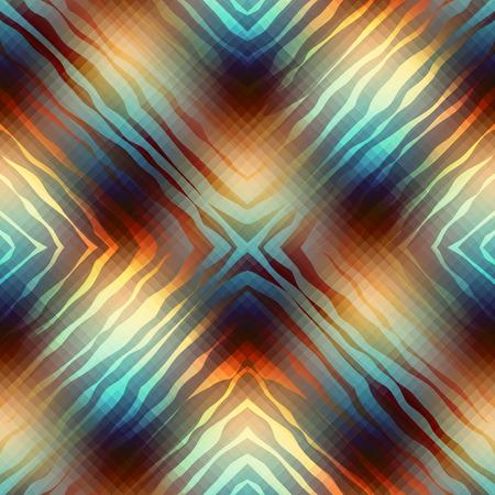 repeat pattern: Seamless background pattern. Diagonal geometric pattern with wavy elements.