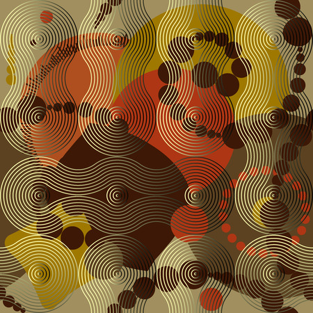 continuity: Seamless background pattern. Abstract geometric brown background.