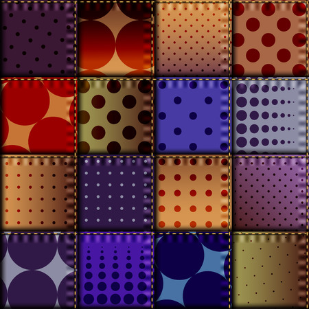 denim fabric: Seamless background pattern. Patchwork of denim fabric in nautical style