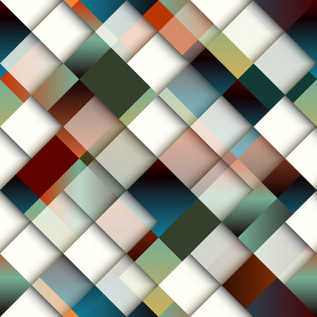 Abstract diagonal geometric pattern of rectangles. Seamless background pattern.