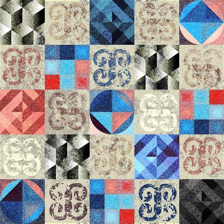 stilish: Seamless background pattern. Grunge stilish geometric pattern.