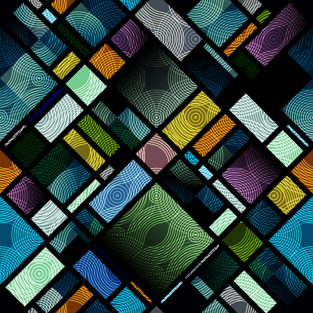 continuity: Seamless background pattern. Abstract diagonal geometric pattern of rectangles.