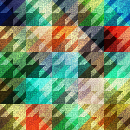Abstract geometric pattern with grunge elements. Seamless hounds-tooths pattern.
