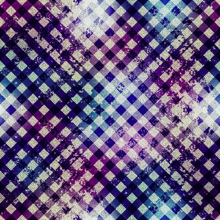 diagonal: Seamless background pattern. Diagonal grunge textured plaid. Illustration