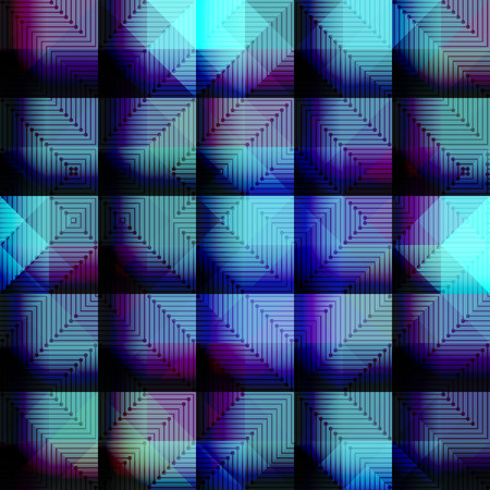 continuity: Seamless background pattern. Abstract blue geometric pattern