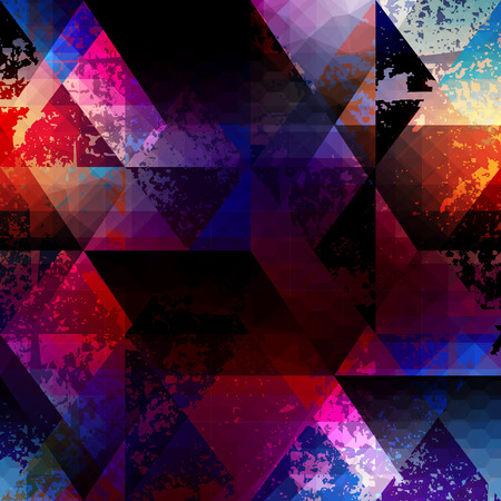 Seamless background pattern. Abstract grunge geometric pattern Ilustração