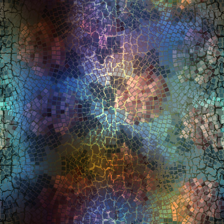 cracks: Seamless background pattern. Mosaic pattern with cracks effect.