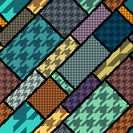 houndstooth: Seamless background pattern. Houndstooth geometric pattern on geometric background. Illustration