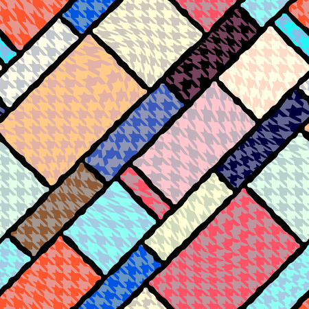 repeat pattern: Seamless background pattern. Curve Houndstooth geometric pattern.