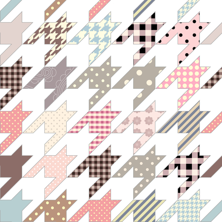 houndstooth: Seamless background pattern. Hounds-tooth geometric pattern in patchwork style. Illustration
