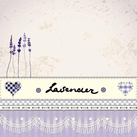 lavanda: Imitaci�n de fondo mosaico retro con flor de lavanda.