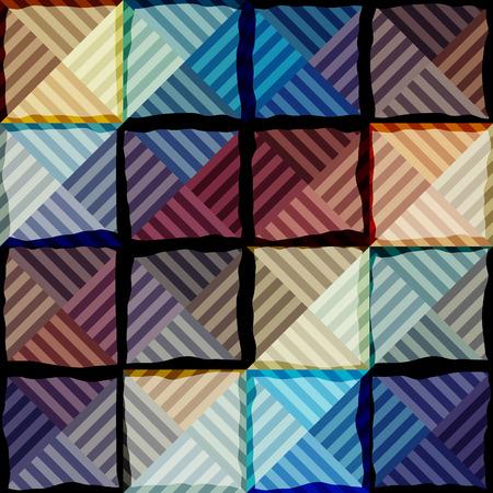 Seamless background pattern. Abstract blue geometric pattern.