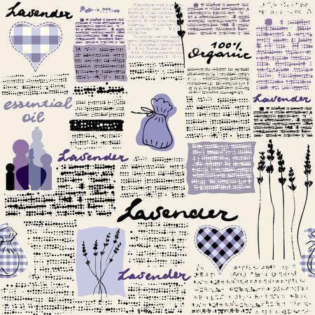 Imitation of retro newspaper background Lavender