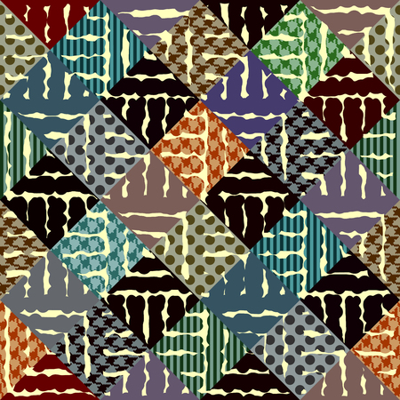 continuity: Seamless background pattern. Abstract diagonal geometric pattern. Illustration