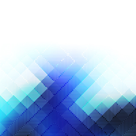 square shape: Abstract Background. Blurred Image and matrix elements. Illustration