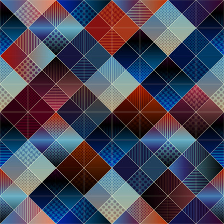convex shape: Seamless background pattern. Abstract plaid diagonal geometric pattern. Illustration