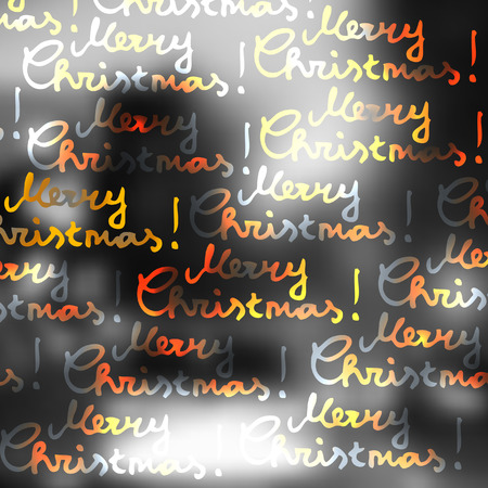 city lights: Blur lights city background with the Merry Christmas lettering. Illustration