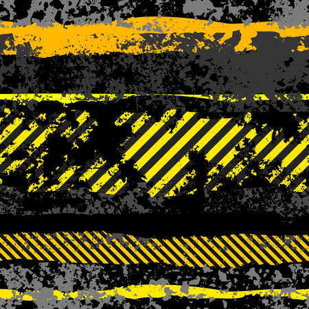 Seamless background pattern. Grunge black background Danger.