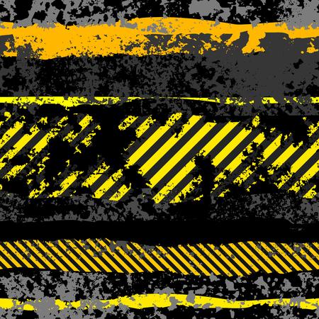 abstract danger: Seamless background pattern. Grunge black background Danger.