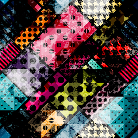 geometric background: Modelo incons�til del fondo. Modelo geom�trico abstracto con elementos de grunge. Vectores
