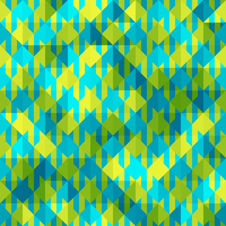 houndstooth: Seamless background pattern. Hounds-tooth patterns in green and blue colors. Illustration
