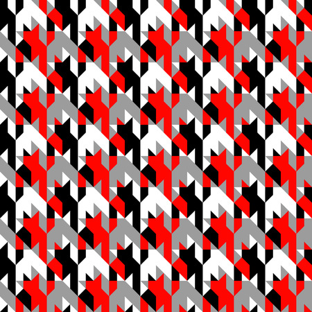 Seamless background pattern. Hounds-tooth patterns  in classic colors