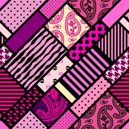 magenta: Seamless background pattern. Diagonal magenta geometric pattern.