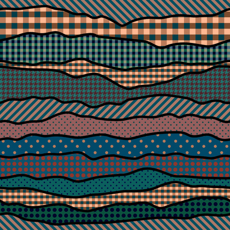 patchwork: Seamless background pattern. Abstract patchwork wavy pattern. Illustration