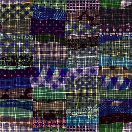patchwork: Seamless background pattern. Patchwork of wavy patches.